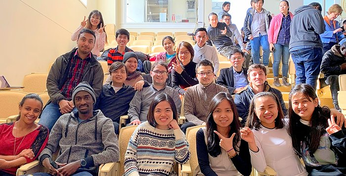 "Some of the 199 Computer Professionals Program students in ""Leadership"" class"