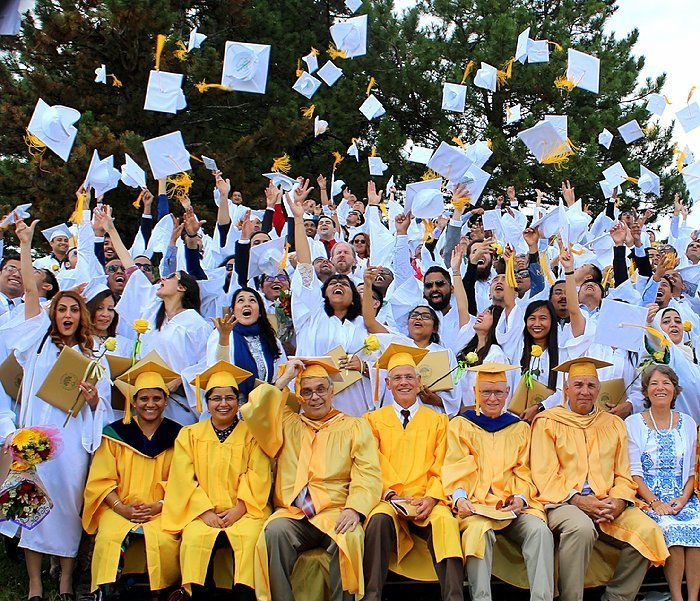 Comemorando a graduação!