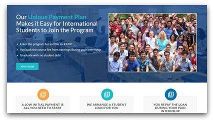 Unique, affordable payment plan for international students